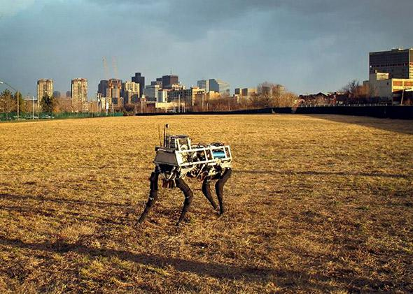 Boston Dynamics' BigDog robot.