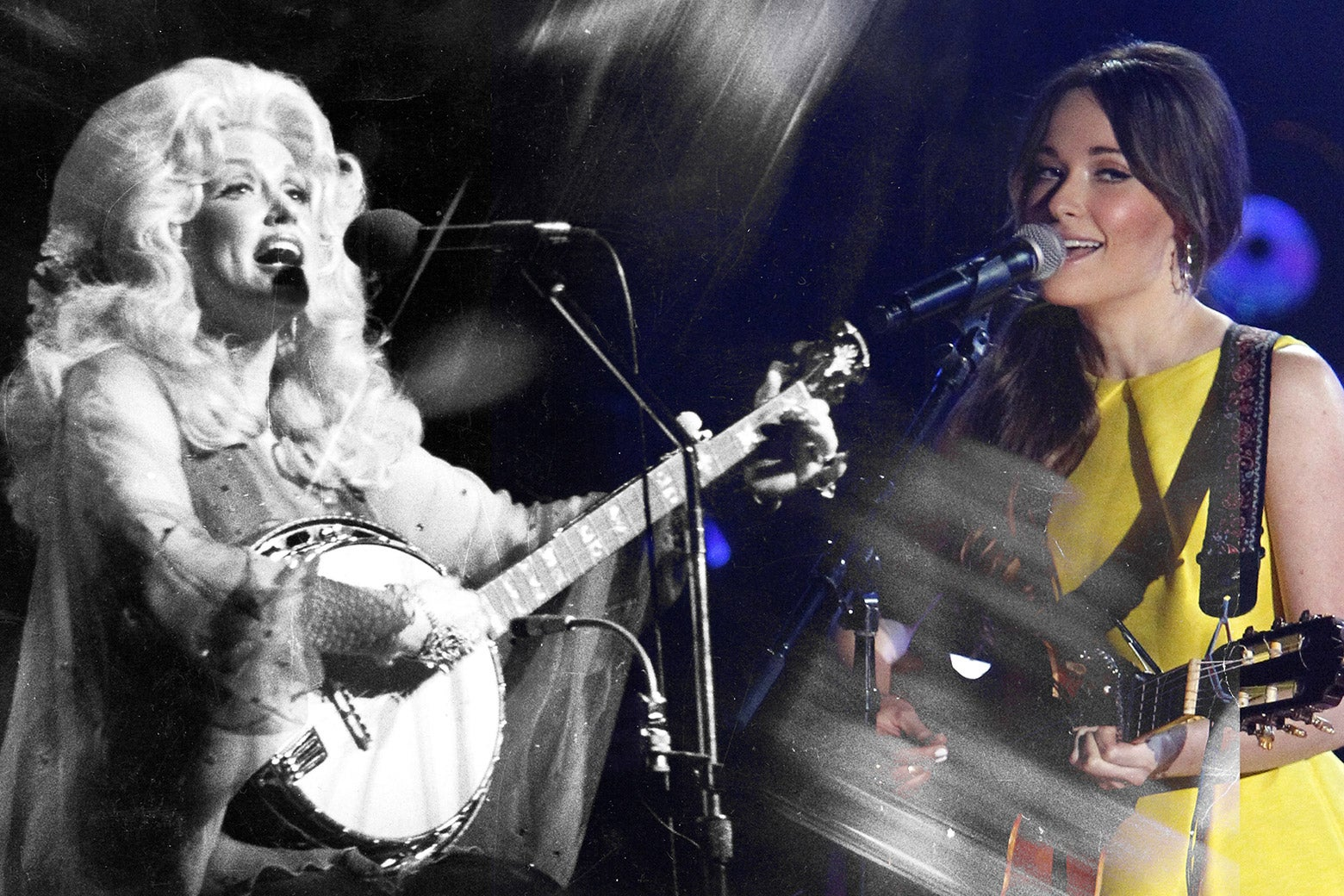 Dolly Parton and Kacey Musgraves.