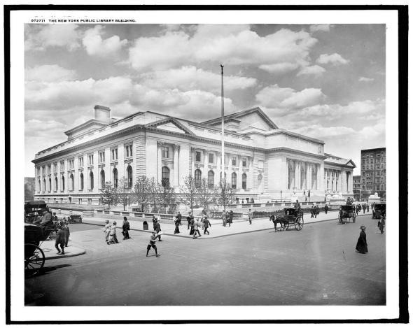 The New York Public Library building, 1910.