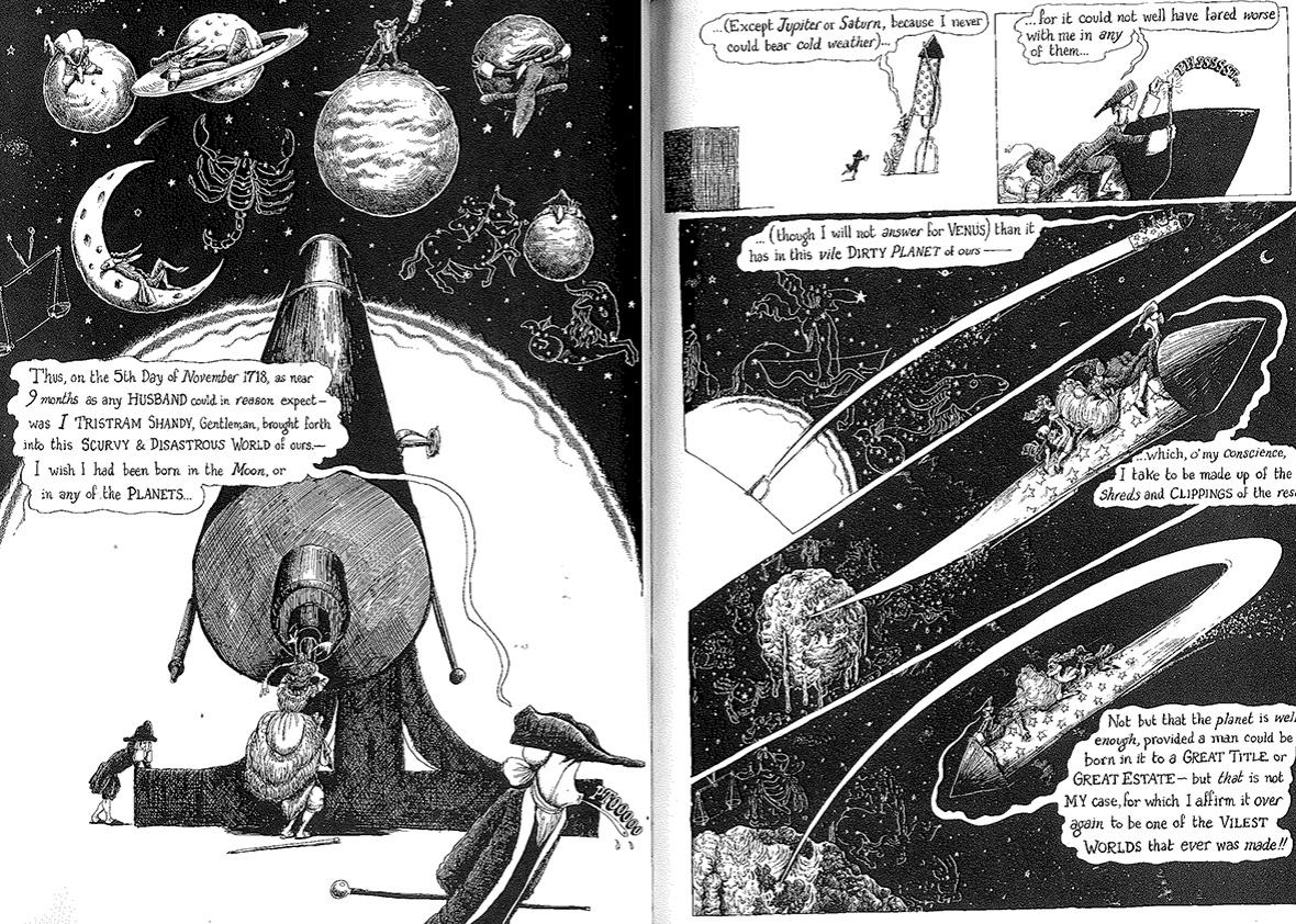 Scan from Tristam Shandy: The Comic Book.