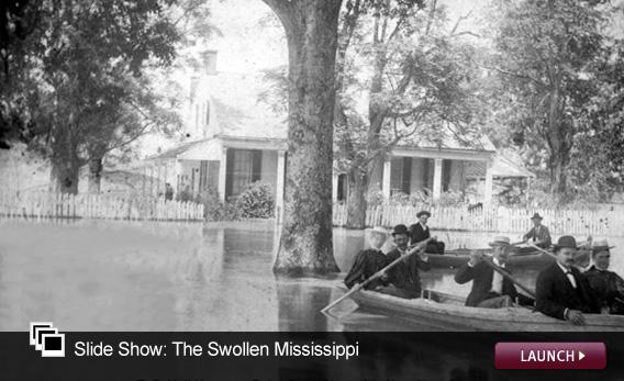 Slide Show: The Swollen Mississippi. Click image to launch.