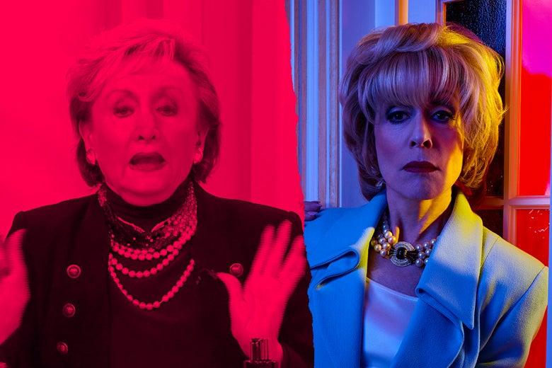Marilyn Miglin, left, and Judith Light as Marilyn Miglin