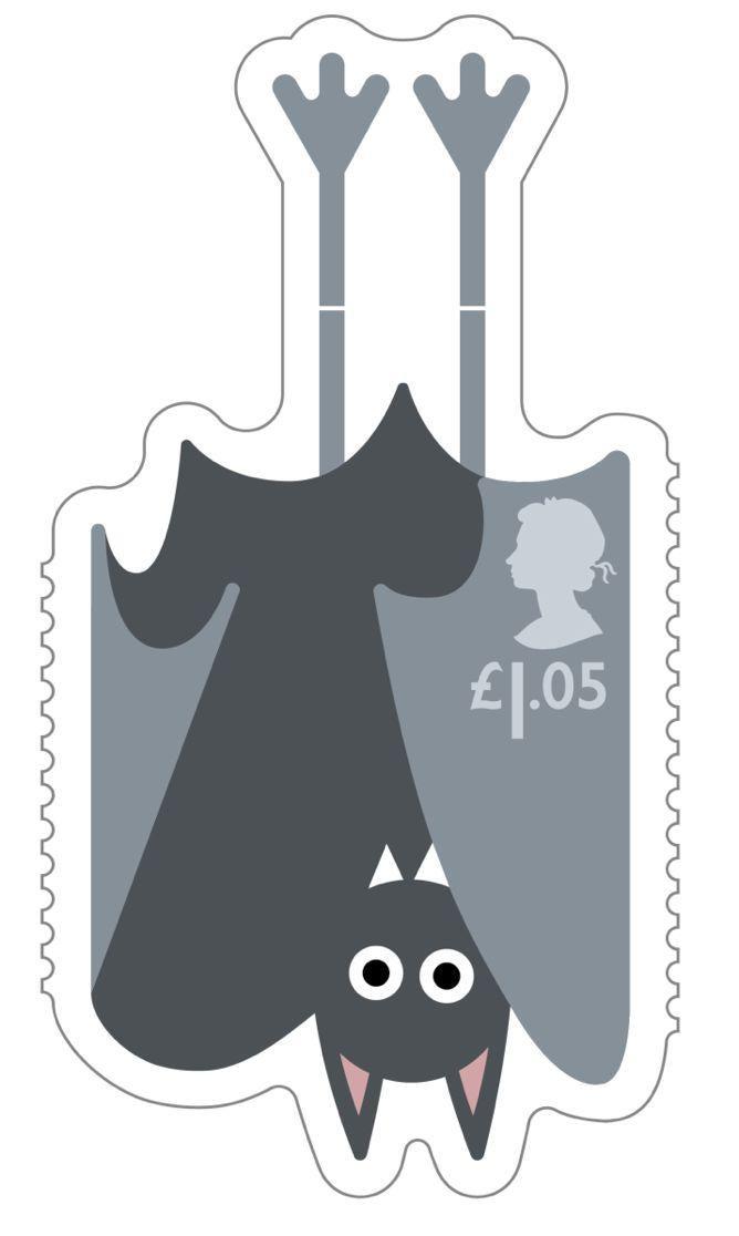 Animail Bat stamp 400%