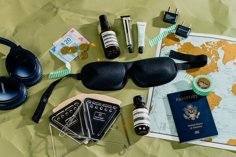 assorted items for travel