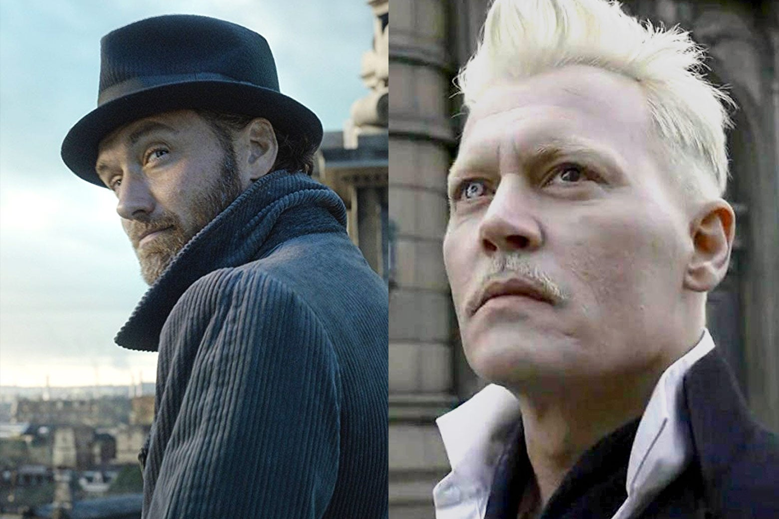 Dumbledore and Grindelwald in Fantastic Beasts: The Crimes of Grindelwald.