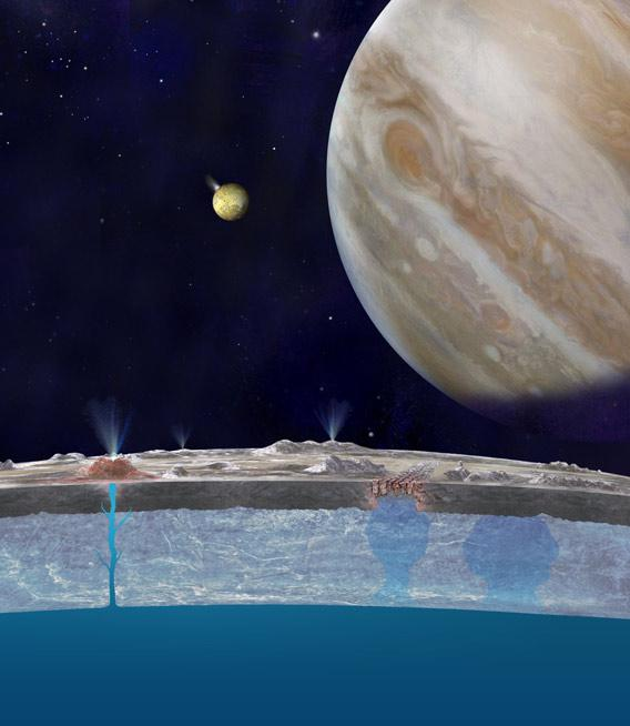 Artist's drawing of Europa