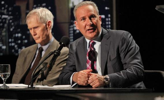 Orville Schell and Peter Schiff