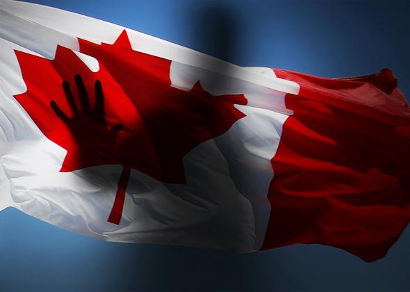 Canadian flag photo-illustration by Slate