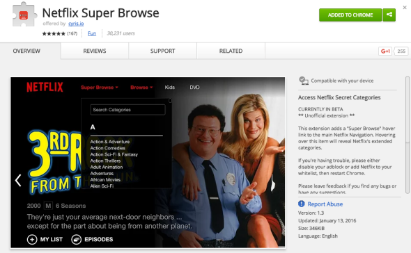 Netflix Super Browse makes finding secret categories easier in