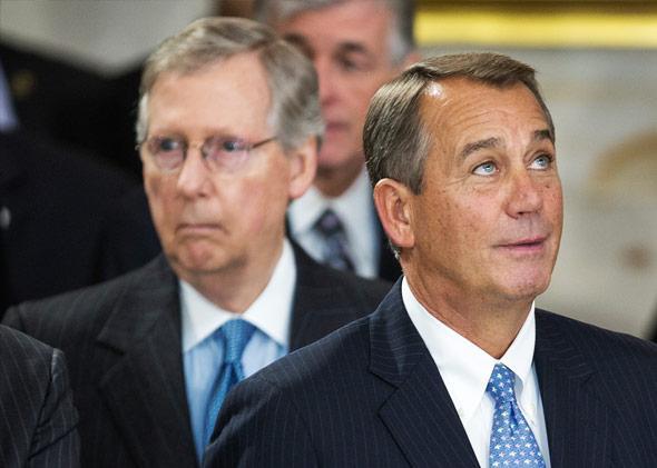 Speaker of the House John Boehner and Senate Minority Leader Mitch McConnell.