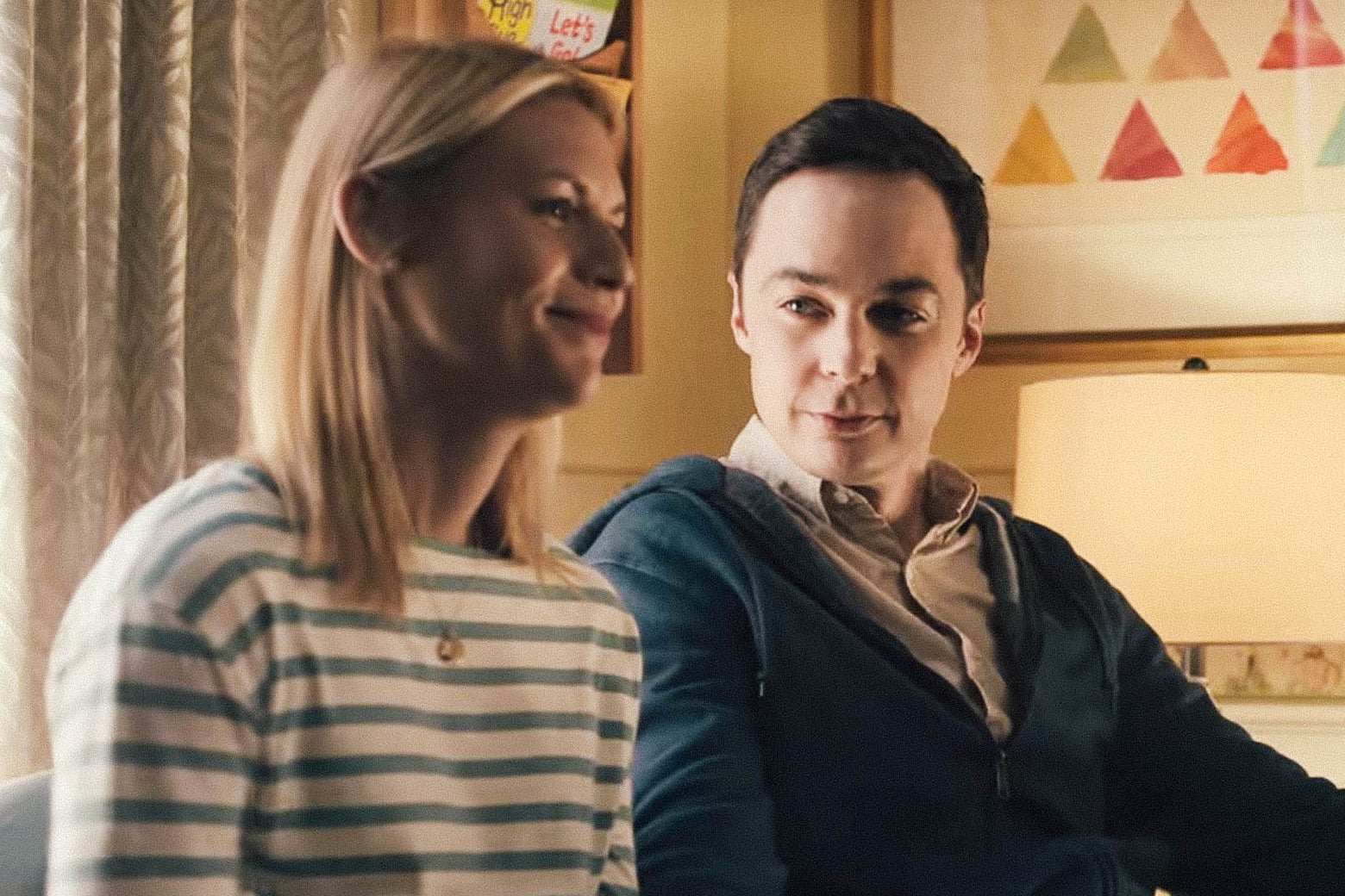 Claire Danes and Jim Parsons in A Kid Like Jake.