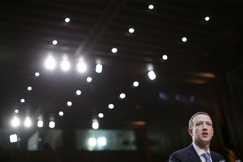Facebook co-founder, Chairman and CEO Mark Zuckerberg testifies before a combined Senate Judiciary and Commerce committee hearing.