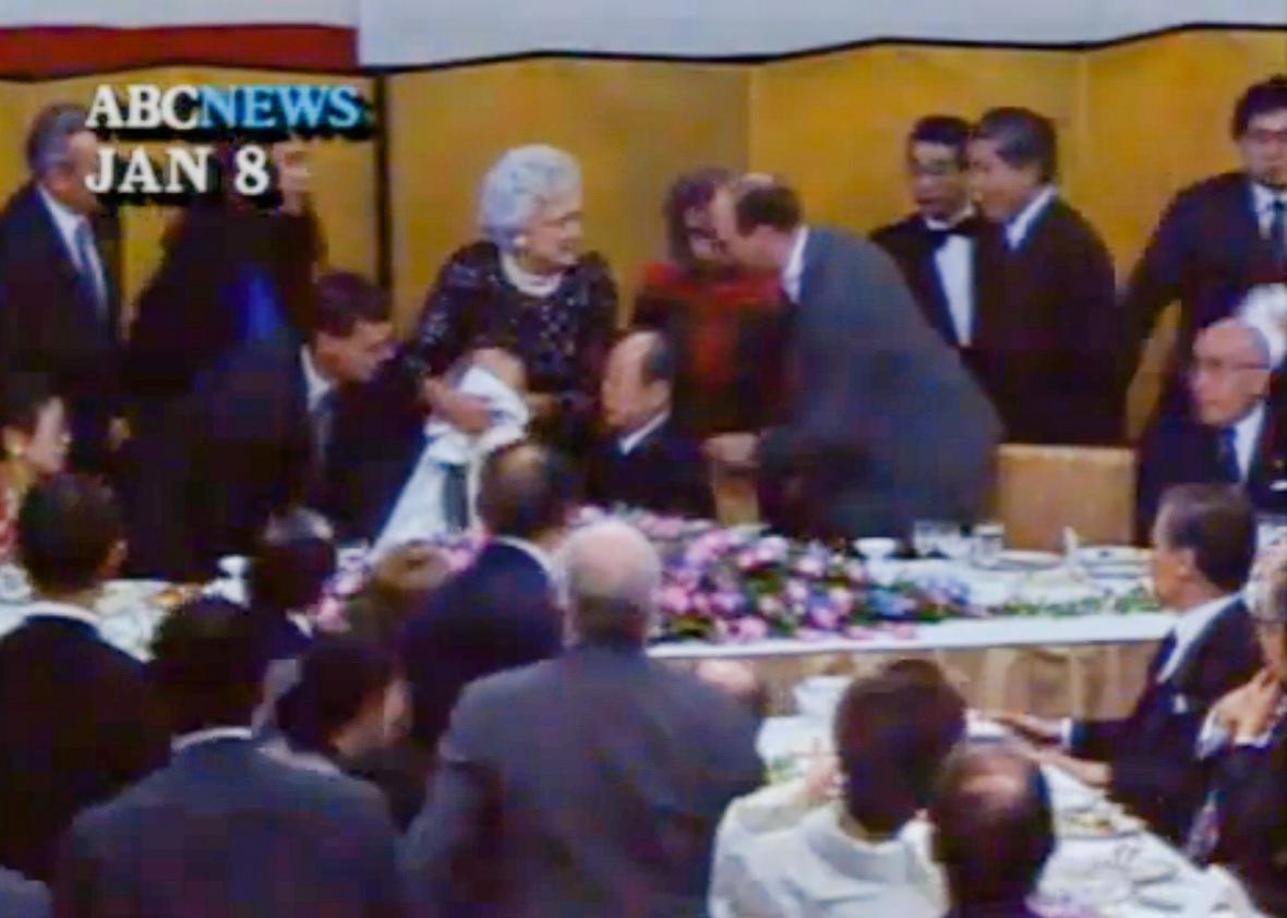 President George H W Bush Once Vomited In The Japanese Premier S Lap