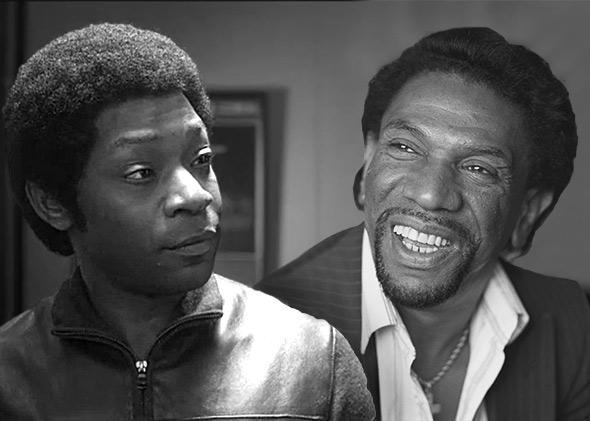 Nelsan Ellis as Bobby Byrd in Get On Up, left, and Bobby Byrd, right, on July 16, 1987 in London, England.