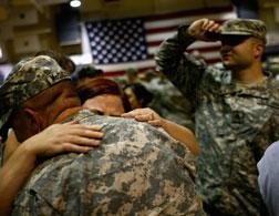 Iraq war veterans return home. Click image to expand.