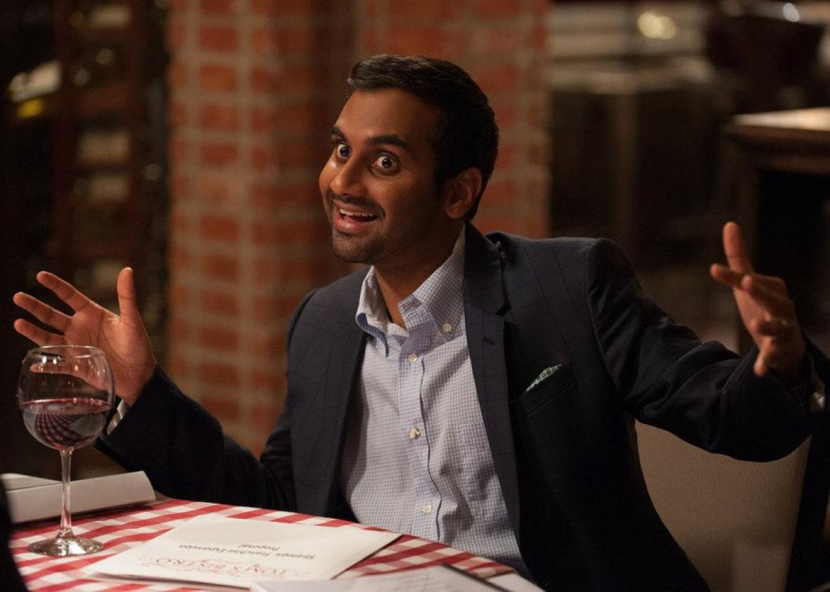 Aziz Ansari as Tom Haverford in Parks and Recreation.