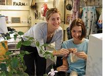 Taylor (left) helps Sarah knit herself back together.
