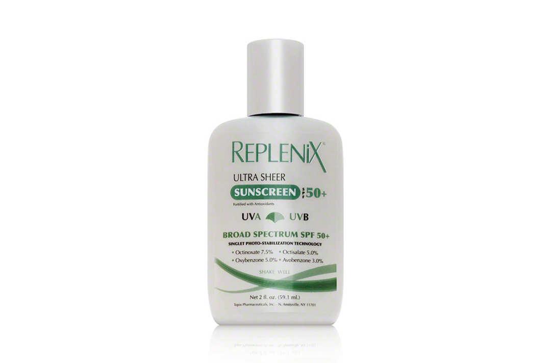 Replenix Ultra Sheer Sunscreen SPF 50+.