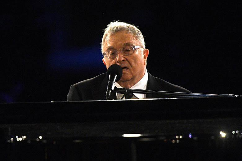 Randy Newman performs on Feb. 10 in Los Angeles.