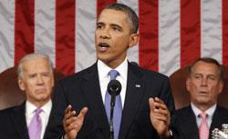 Barack Obama addresses a joint session of Congress on Sept. 8. Click image to expand.