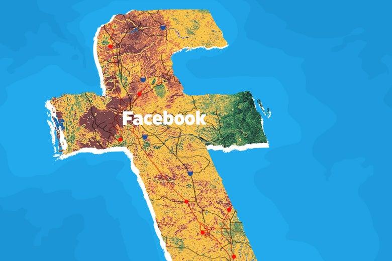 Facebook as global network.
