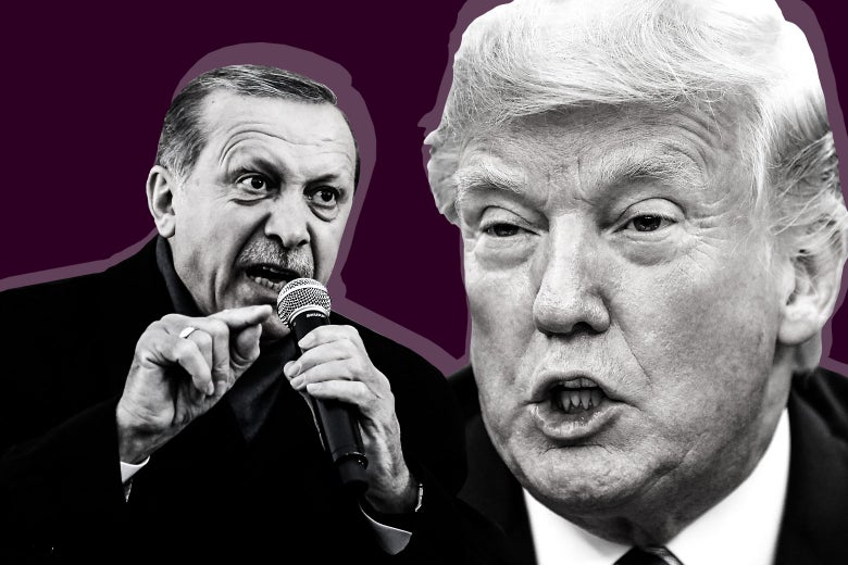 Turkish President Recep Tayyip Erdogan and U.S. President Donald Trump.