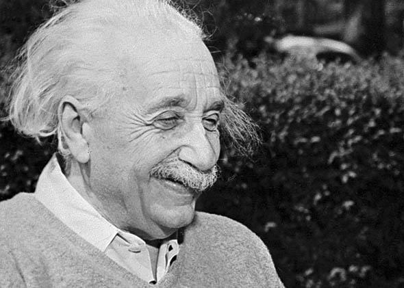 Albert Einstein at Princeton University in 1951