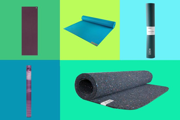 assorted yoga mats