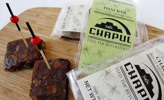 Chapul power bars made with crickets