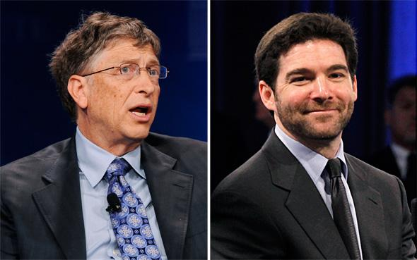LinkedIn CEO Jeff Weiner and Bill Gates, Microsoft Chairman and Co-Chair and Trustee of the Bill & Melinda Gates Foundation.