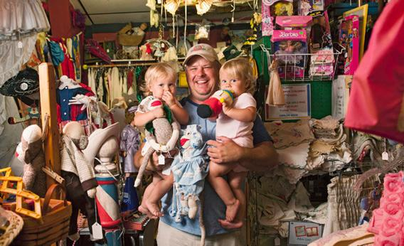Rick Lucas and twins Katherine and Elizabeth