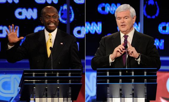 Herman Cain and Newt Gingrich