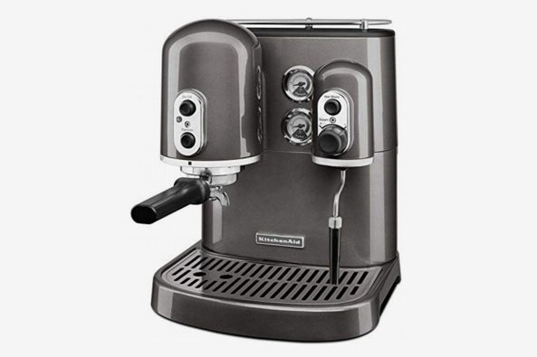 KitchenAid KES2102FP Pro Line Series Espresso Maker With Dual Independent Boilers, Frosted Pearl.