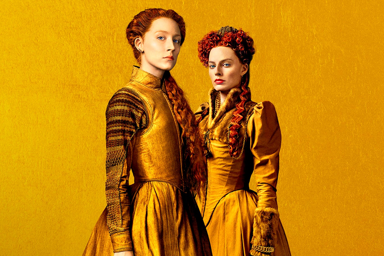 Saoirse Ronan and Margot Robbie in Mary Queen of Scots.