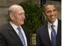 Ehud Olmert and Barack Obama