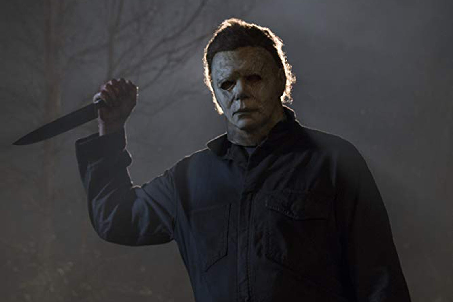 Michael Myers brandishes a butcher knife.