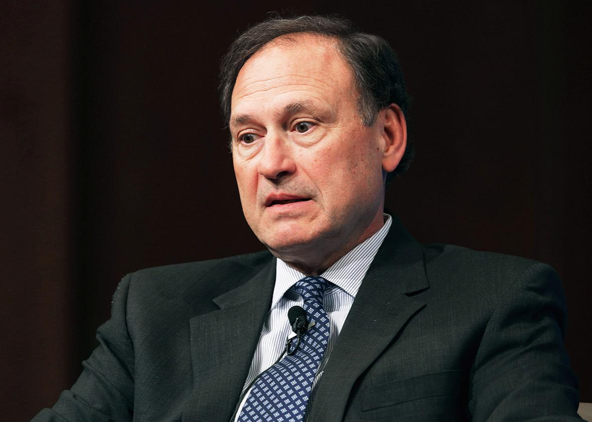 U.S. Supreme Court Associate Justice Samuel Alito speaks during the Georgetown University Law Center's third annual Dean's Lecture to the Graduating Class in the Hart Auditorium in McDonough Hall February 23, 2016 in Washington, DC
