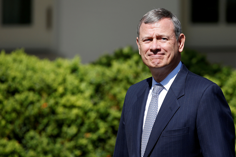 John Roberts outside the White House