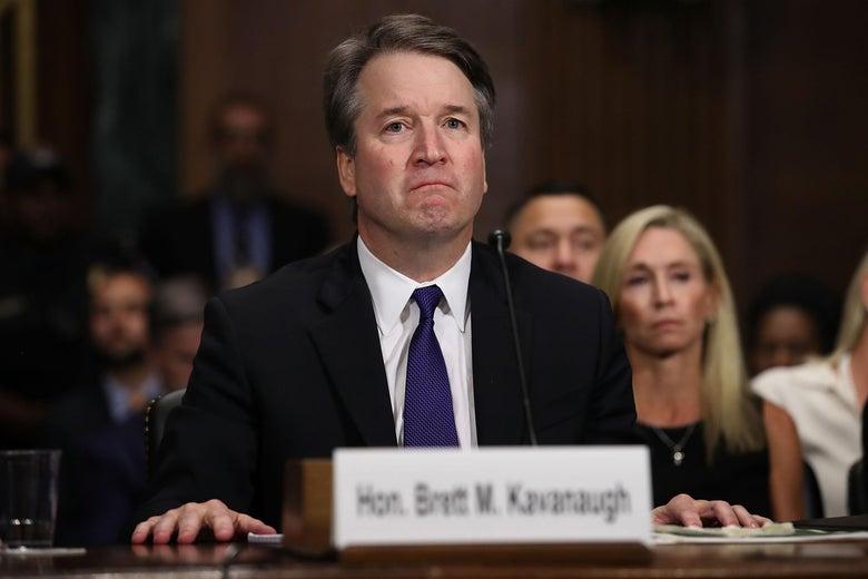 Judge Brett Kavanaugh testifies to the Senate Judiciary Committee on September 27, 2018 in Washington, D.C.