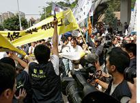 May Day Protestors. Click image to expand.