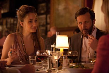 Jemima Kirke as Jessa Johansson and Chris O'Dowd as Thomas-John.