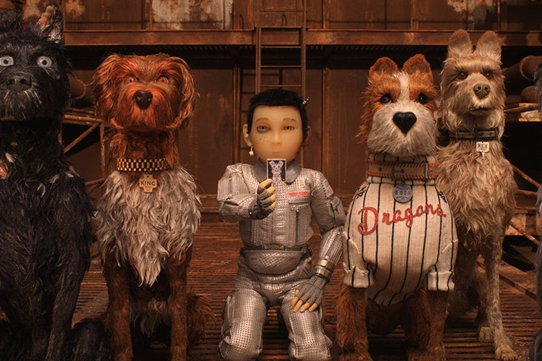 A scene from Isle of Dogs.