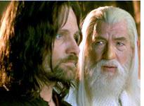Aragorn and Gandalf fight the righteous war