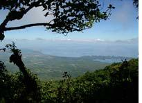 The town of Granada and the shores of Lago de Nicaragua, as viewed from Volcán Mombacho