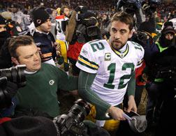 Green Bay quarterback Aaron Rodgers. Click image to expand.