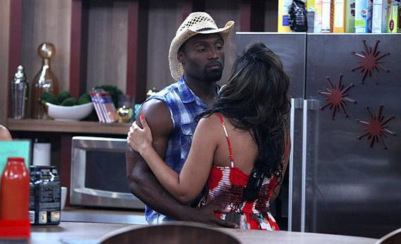 Houseguests Howard and Candice, on BIG BROTHER, Thursday, July 18 on CBS.