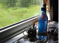 Russian train window detritus