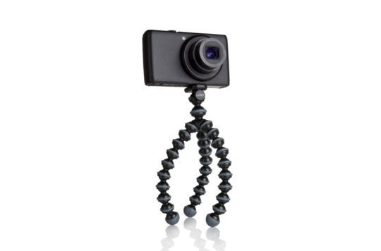 Camera in a Gorillapod tripod.