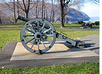 One of many a cannon at Trophy Point, USMA