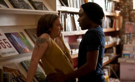 Lena Dunham and Donald Glover.